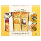 Burt's Bees lotion tips & toes kit - each