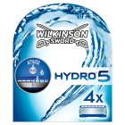 Wilkinson Sword, hydro 5 cartridges - 4s Brand Price Match - Checked Tesco.com 21/04/2014
