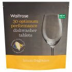 Waitrose Dishwasher Tablets Lemon Fragrance - 30s Introductory Offer