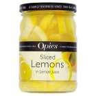 Opies sliced lemons in lemon juice - 350g Brand Price Match - Checked Tesco.com 02/12/2013