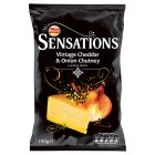 Walkers Sensations vintage cheddar & red onion chutney crisps