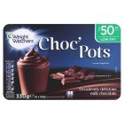 Weight Watchers choc' pots milk chocolate - 6x55g