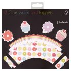 John Lewis daisy cake wraps & toppers - 12s
