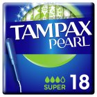 Tampax Pearl Super Applicator Tampon Single 18PK - 18s Brand Price Match - Checked Tesco.com 30/07/2014