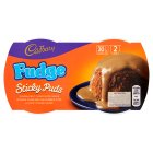 Cadbury fudge sticky puds - 2x95g