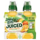 Robinsons Fruit Shoot my-5 orange 7 pineapple juice - 4x200ml