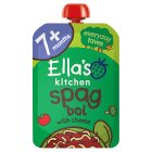 Ella's Kitchen Organic lip smacking spag bol with a sprinkle of cheese - stage 2 baby food - 130g Brand Price Match - Checked Tesco.com 23/07/2014