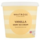 Waitrose vanilla dairy ice cream - 1litre
