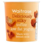 Waitrose deliciously smooth butterscotch toffee yogurt