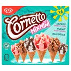 Cornetto Mix Mini strawberry, hazelnut & stracciatella 6 pack ice cream cone - 360ml