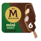 Magnum Mini classic, dark & mint 6 pack ice cream - 330ml