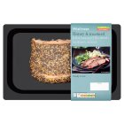Waitrose honey & mustard kiln roasted Scottish salmon slices - 150g