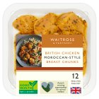 Waitrose British Chicken Moroccan Spiced Breast Chunks - 300g