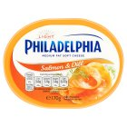 Philadelphia Light with salmon & dill soft white cheese - 170g
