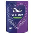 Tilda steamed white & brown basmati rice - 250g