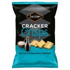 Jacobs sea salt & balsamic vinegar cracker crisps - 150g