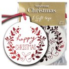 Waitrose Christmas happy Xmas gift tags - 8s
