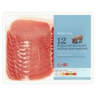 Waitrose 12 Unsmoked Dry Cured Back Bacon - 350g