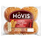 Hovis British farmers soft white rolls - 4s