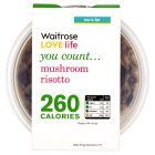 Waitrose LOVE Life you count  mushroom risotto - 250g