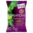 Walkers Sensations lime & coriander chutney poppadoms - 90g Brand Price Match - Checked Tesco.com 10/03/2014