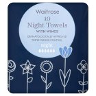 Waitrose Night Towels with Wings - 10s