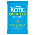 Kettle ridge cut chips salt & malt vinegar - 150g Brand Price Match - Checked Tesco.com 30/07/2014