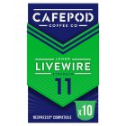 Cafépod arabica 10 capsules strength 4 - 50g Brand Price Match - Checked Tesco.com 23/07/2014