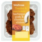 Waitrose BBQ pork & chorizo sliders - 136g