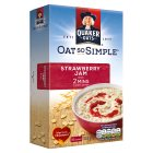 Oat So Simple strawberry jam 10 sachets - 332g Brand Price Match - Checked Tesco.com 29/10/2014