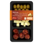 Waitrose tapas platter with chorizo manchego & pimento stuffed olives - 150g