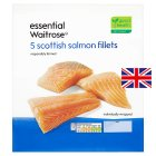 essential Waitrose 5 Scottish salmon fillets - 600g