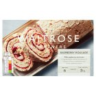 Waitrose frozen raspberry meringue roulade - 450g