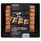 Heston from Waitrose 18 mini ham hock & piccalilli terrine slices - 306g