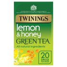 Twinings lemon & honey green tea 20 tea bags - 40g