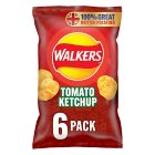 Walkers crisps tomato ketchup - 6x25g
