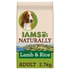 Iams Naturally Adult New Zealand Lamb & Rice - 2.7kg