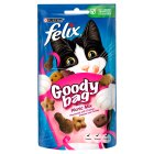 FELIX® GOODY BAG Adult Cat Picnic Mix with Chicken, Cheese & Turkey flavour Treats Pouch - 60g