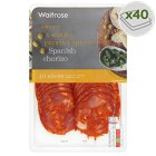 Waitrose farm assured Spanish chorizo, 40 slices - 180g