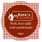 Kate's kitchen pork liver pâté with mushrooms - 120g