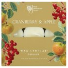 RHS cranberry & apple tealights - 9s