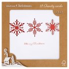 Waitrose Christmas s'flake diecut cards - 10s