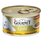 GOURMET Gold Adult Cat Casserole Duck & Turkey Wet Food Can - 85g