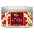 RHS tin candle vanilla & cinnamon - each
