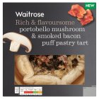 Waitrose portobello mushroom & smoked bacon tart - 350g