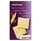Waitrose seeded wheat biscuits for cheese - 130g