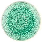 Waitrose Riad Reactive Crackle Plate Green -
