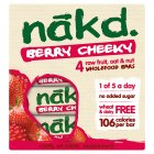 Nákd berry cheeky - 4x30g Brand Price Match - Checked Tesco.com 23/07/2014