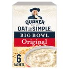 Quaker Oats So Simple Big Bowl original porridge cereal sachets - 385g