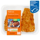 Waitrose MSC 2 line caught haddock fillets in breadcrumbs - 275g